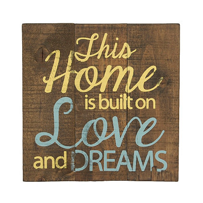 Built on Love Wooden Plaque