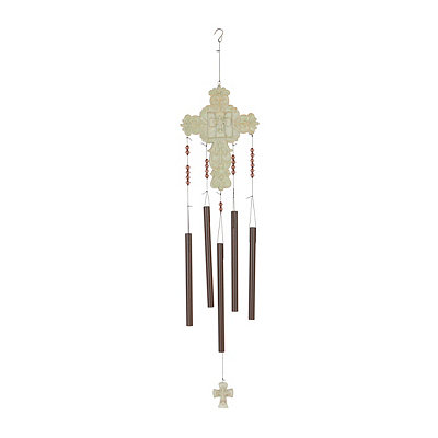Ivory Cross Wind Chime
