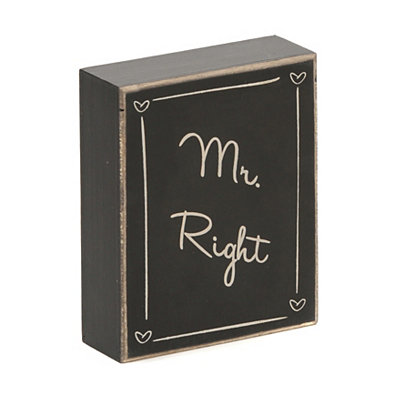 Mr. Right Word Block