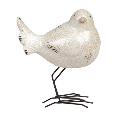 White Little Bird Outdoor Statue