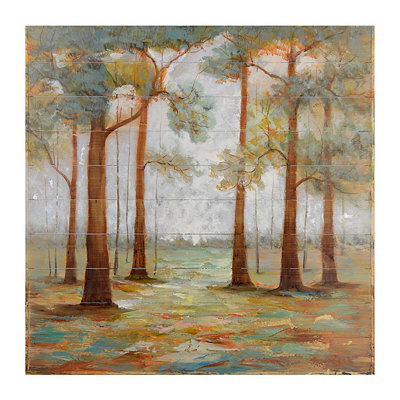 A Walk in the Forest Wood Art Print
