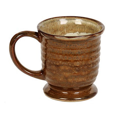 Large Glazed Brown Mug