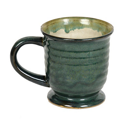 Large Glazed Green Mug