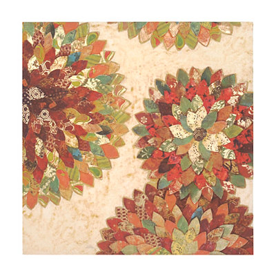 Quilted Spice Blooms Canvas Art Print