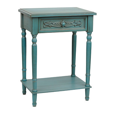 Brooke Distressed Turquoise Accent Table