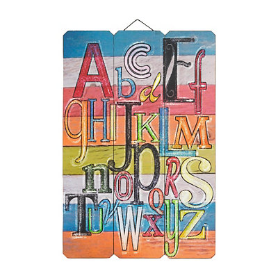 Multicolor Alphabet Wooden Plaque