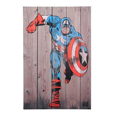 Captain America Canvas Art Print