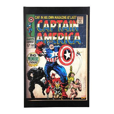 Captain America Premiere Canvas Art Print