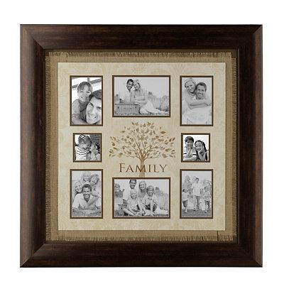 Burlap Family Tree Collage Frame