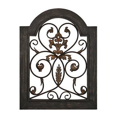 Distressed Black Garden Window Plaque