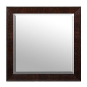 Dark Brown Framed Mirror, 32x32