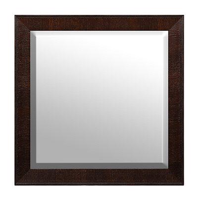 Dark Brown Framed Mirror, 32x32
