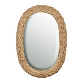 Natural Wicker Framed Mirror, 22x31.5