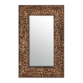 Rumpled Hyacinth Framed Mirror, 20.5x32