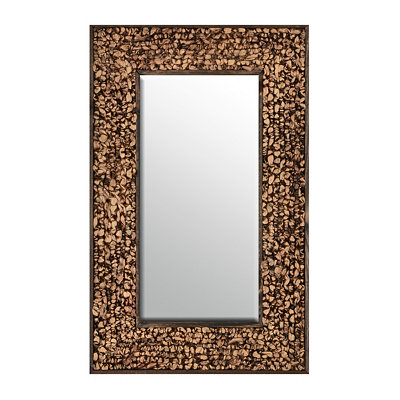 Rumpled Hyacinth Framed Mirror, 20.5x32