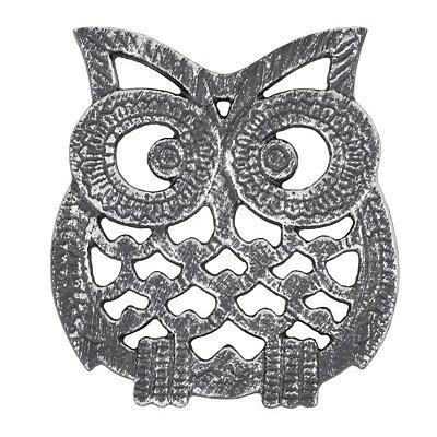 Silver Metal Owl Trivet