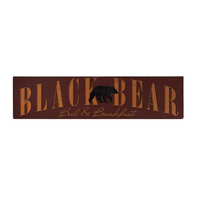 Black Bear Lodge Wooden Sign