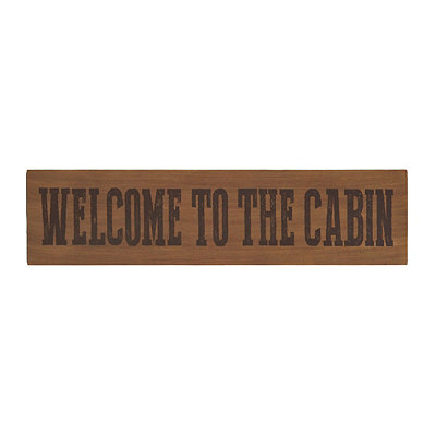 Welcome to the Cabin Wooden Sign