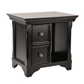 Hand-Painted Black End Table