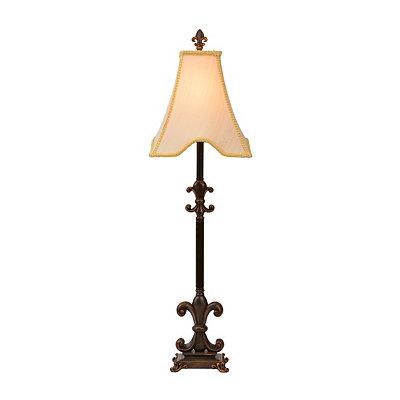 Bronze Fleur-de-lis Buffet Lamp