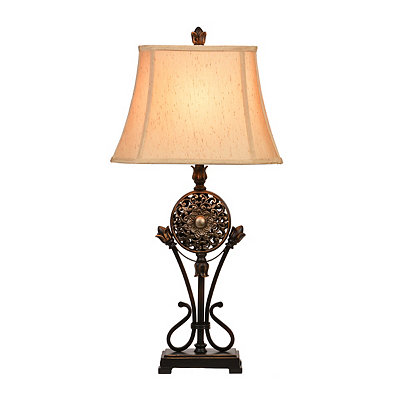 Bronze Medallion Table Lamp