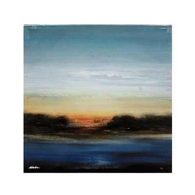 Abstract Sunrise Canvas Art Print