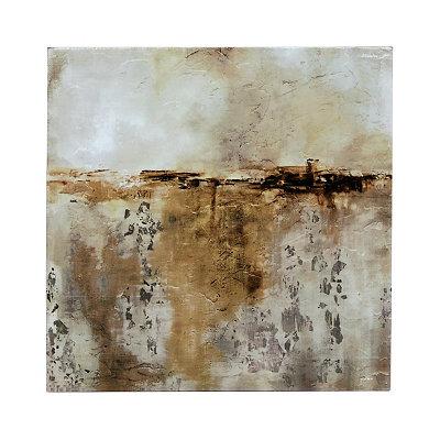 Gray Abstract Canvas Art Print