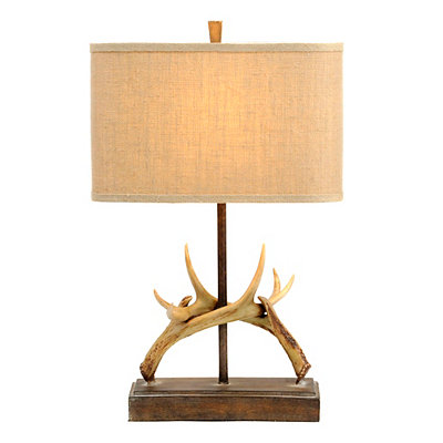 Hooked Antlers Table Lamp