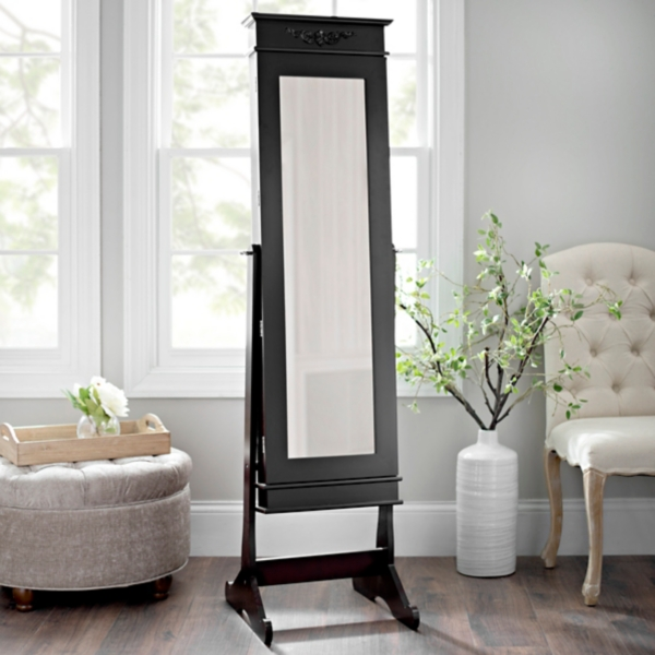 Cherry Cheval LED Jewelry Armoire Mirror