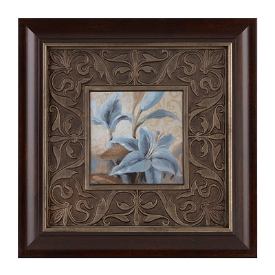 Blue Floral II Framed Art Print