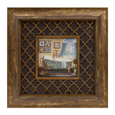 Patterned Tub II Framed Art Print