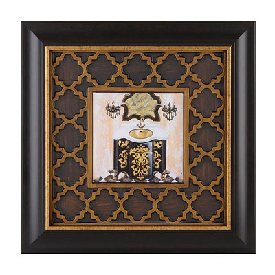Opulent Bath I Framed Art Print