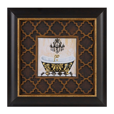 Opulent Bath II Framed Art Print