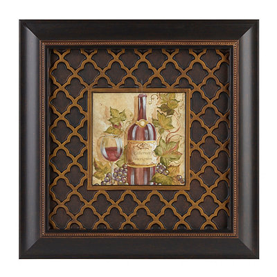 Parisian Wine II Framed Art Print