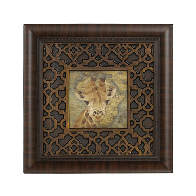 Giraffe Safari Framed Art Print