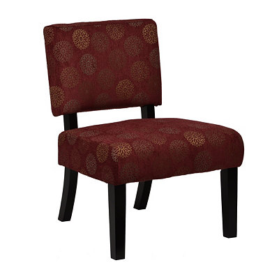Jasmine Red Blossom Accent Chair