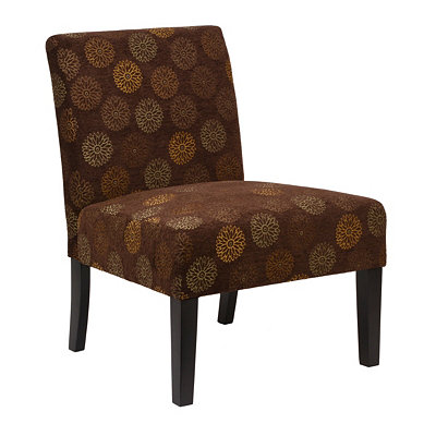 Laguna Brown Blossom Slipper Chair