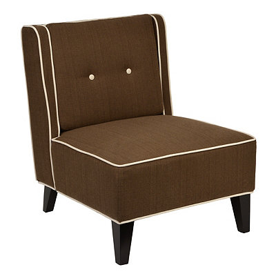 Madrid Brown Slipper Chair