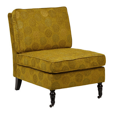Madrid Green Blossom Slipper Chair