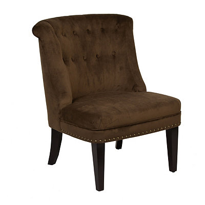 Ventana Brown Velvet Accent Chair
