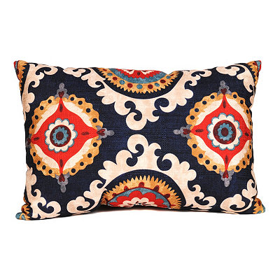 Navy Valerie Accent Pillow
