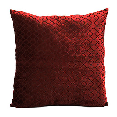 Red Diamond Velvet Pillow