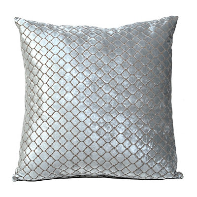 Blue Diamond Velvet Pillow