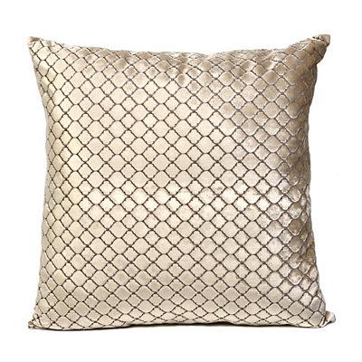 Tan Diamond Velvet Pillow