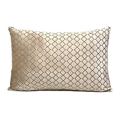 Tan Diamond Velvet Accent Pillow