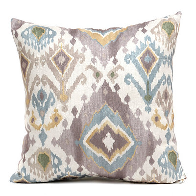 Blue Lodge Ikat Pillow