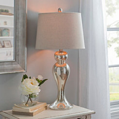 Mercury Glass Curves Table Lamp