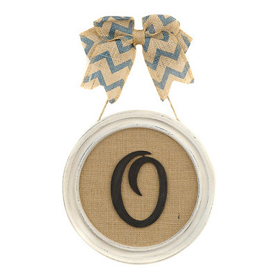 Round Framed Monogram O Plaque