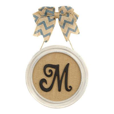 Round Framed Monogram M Plaque