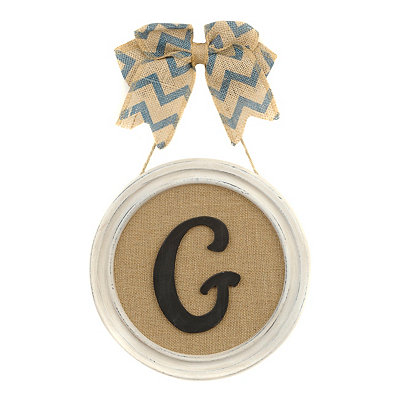 Round Framed Monogram G Plaque